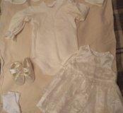 Платье на выписку/крестины 0-3м