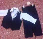 Костюм (рубашка,брюки,жилетка)