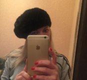 СРОЧНО!!!Норковая шапка(беретка)