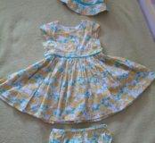 Next Комплект платье,  панама, трусы