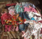 Пакет вещей для девочки 3-6 месяцев.