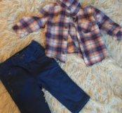 Костюм для малыша (джинсики и рубашка)