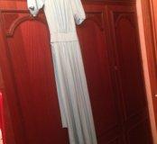Новое Платье в пол мятного цвета