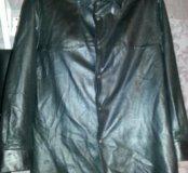Кожанная рубашка 46-48