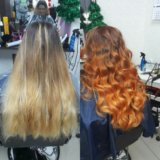 Окраска волос.
