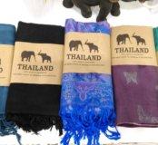 Палантины из Тайланда 100%кашемир