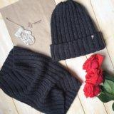 Зимний комплект:шапка+ снуд-труба