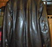Кожаная куртка осенне-зимняя муржская