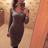 Модное серое платье Лапша