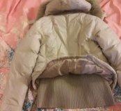 Куртка зимняя на пуху с капюшоном