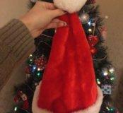 Новогодняя шапка деда мороза, новая!!!