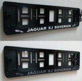 Jaguar рамка номера с подсветкой надписи