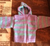 Тёплая детская вязанная кофта