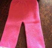 Розовые тёплые штаны для девочки