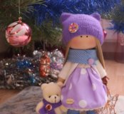 Интерьерная текстильная куколка. Ручная работа.