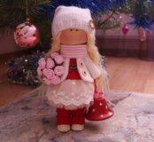 Текстильная интерьерная куколка. Ручная работа.