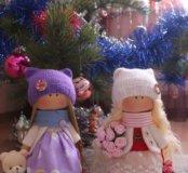 Текстильные куколки. Ручная работа.
