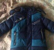 Куртка зимняя на 110-116(4-6 лет).