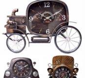 Стильные настенные часы в стиле лофт