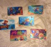 Коллекция переливающихся карточек Барни