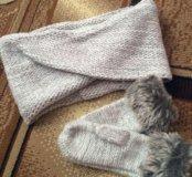 ‼Новый шарф варежки