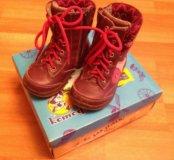 Демисезонные ботинки кожа на байке Котофей, р-р 22