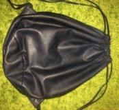 Кожаный мешок рюкзак