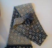 Шерстяная шарф шапка