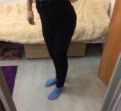 Черные штаны с высокой посадкой