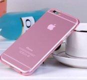 Силиконовый розовый чехол айфон iPhone 6s