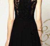 Новое черное кружевное платье