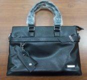 Кожаная мужская сумка (портфель)