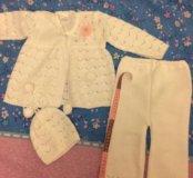 Вязанный костюм новый детский