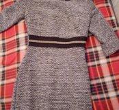 Теплое платье с люрексом