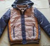Куртки демисезонные, 158 см и 164 см.