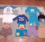 Одежда пакетом для мальчика от 6 месяцев до 1 года