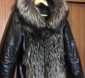 Зимняя Куртка трансформер чернобурка
