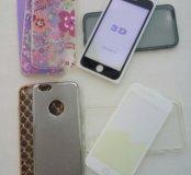 Для айфон 6/6s защитное стекло 3D+чехол