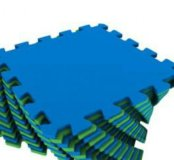 Мягкий пол для детской Green-Blue 25х25 16шт