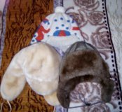 Детские теплые шапки