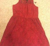 Платье красное на Новый год, 44-46