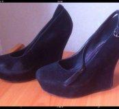 Черные туфли. Сабо. Ботинки на платформе