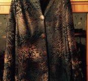 Новая куртка,натуральная кожа,мех,очень-зима