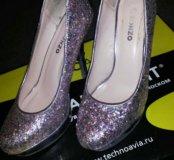Туфли с блестками обмен