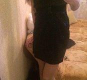 Платье чёрное в пайетках