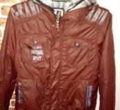 Куртка 2в одном 134-140 (8-10) лет
