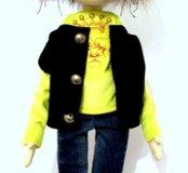 Текстильная кукла кот Тайсон