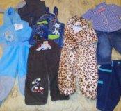 Пакет новых вещей для мальчика 68-74