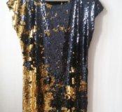 платье пайетки новые