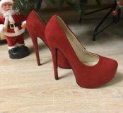 Красные туфли 37-38 р